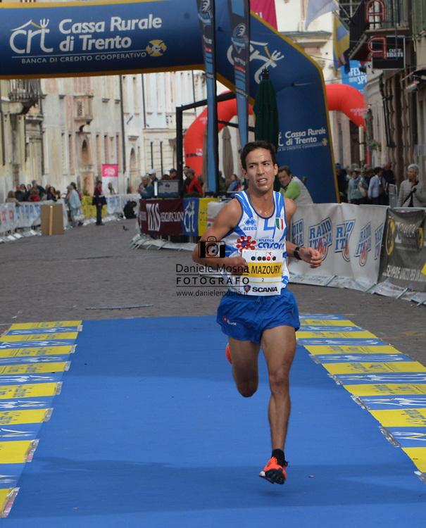 9ª Semi Maratona di Trento Half Marathon - 6 ottobre 2019 –  Corsa su strada internazionale -  06.10.2019, Trento, Trentino, Italia. Arrivo, Al Mazoury<br /> © Daniele Mosna WWW.DANIELEMOSNA.IT