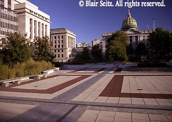 PA Capitol Complex, Keystone Building Plaza, Harrisburg