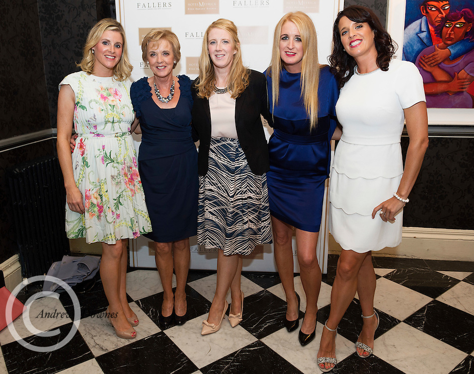 Linda,Mary,Susan ,Angela &Tara Whyte, Renmore, Galway at Hotel Meyrick Galway's 'Most Stylish Lady' Competition, a glamorous evening reception in Hotel Meyrick's Parlour Lounge on Ladies Day of the Galway Races, Thursday 28th July. Head judge this year was the stunning TG4 Rugbaí Beo sports presenter Máire Treasa Ní Dhubhghaill, assisted by a panel of leading Irish fashion experts Mandy Maher, Catwalk Model Agency and Irish model Mary Lee. The lucky winners were awarded a prize value of €2,000 worth of stunning jewellery from prize sponsors Fallers of Galway. Photo: Andrew Downes, Xposure.
