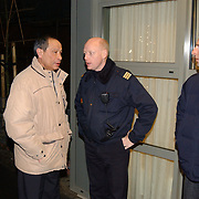 Brand woning bejaardentehuis de Bolder Huizen, burgemeester Jos Verdier en brandweercommandant Jaap Weijermans