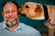 Roy Criner with his dog Chow Boy,  Splendora,Tx, May, 2012.( Billy Smith II / Houston Chronicle) <br /> <br /> <br /> DO NOT PUBLISH WEB OR PRINT WITHOUT TALKING TO BILLY SMITH (713-806-3306)