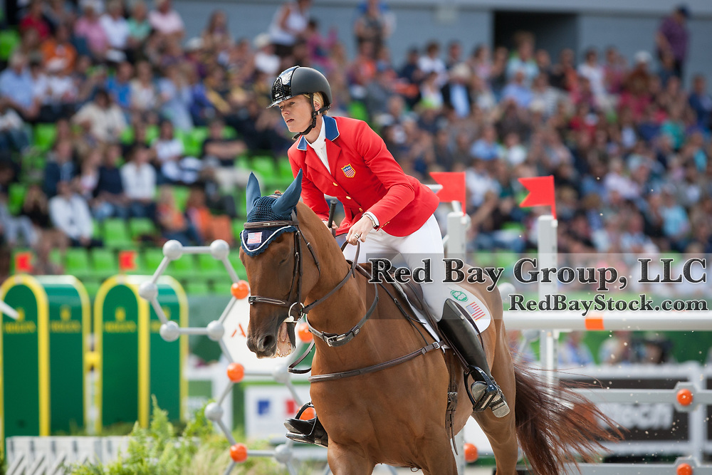 Sinead Halpin (USA) and Manoir de Carneville at the 2014 Alltech FEI World Equestrian Games in Normandy, France.