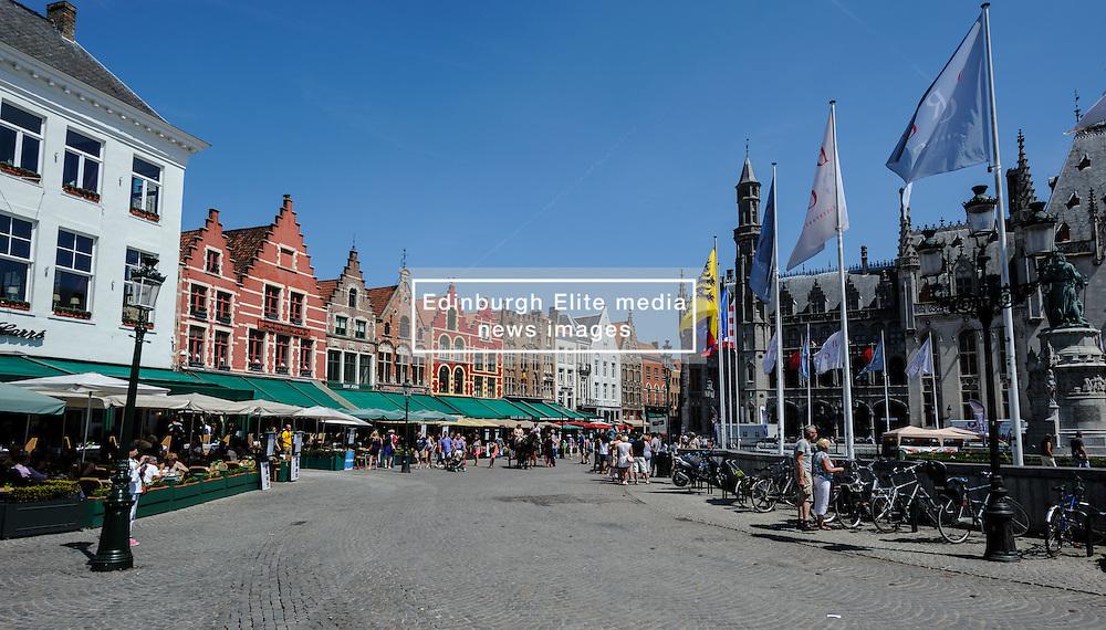 Grote Markt, Bruges, Belgium<br /> <br /> (c) Andrew Wilson   Edinburgh Elite media