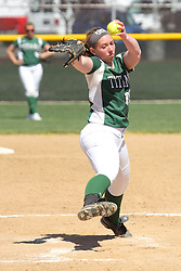 11 April 2015:   Chloe Montgomery during an NCAA Division III women's softball game between the Washington University Bears and the Illinois Wesleyan Titans in Bloomington IL