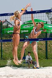Erika Fabjan vs Ana Praprotnik at Beachmaster 2010 tournament for Slovenian BeachTour on July 15, 2010, in Ptuj, Slovenia. (Photo by Matic Klansek Velej / Sportida)