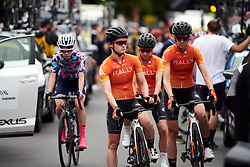 Heidi Franz (USA) lines up with her Rally Cycling teammates before the 2020 Cadel Evans Great Ocean Road Race - Deakin University Women's Race, a 121 km road race in Geelong, Australia on February 1, 2020. Photo by Sean Robinson/velofocus.com