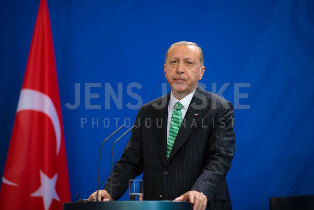 DEU, Deutschland, Germany, Berlin, 28.09.2018: Der Präsident der Türkei, Recep Tayyip Erdogan, bei einer Pressekonferenz im Bundeskanzleramt.