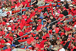 08 October 2016:  Redbird Fans.  NCAA FCS Missouri Valley Football Conference Football game between Youngstown State Penguins and Illinois State Redbirds at Hancock Stadium in Normal IL (Photo by Alan Look)