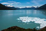 View of Canal de Los Tempanos, Los Glaciares National Park, near El Calafate, Santa Cruz Province, Argentina.