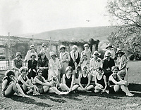 1922 Supporters standing in front of the Hollywood Studio Club