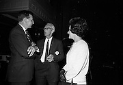 """24/07/1967<br /> 07/24/1967<br /> 24 July 1967<br /> First showing of """"Fleá Cheoil"""" at the Metropole Cinema, Dublin. A presentation was made to the director of the film Mr. Louis Marcus, for winning the Silver Bear Award at the Berlin International Film Festival, by Taoiseach Jack Lynch TD, on behalf of the Cork Film Society, where Mr. Marcus began his carrier. President of the Society Mr. Sean Hendrick attended the presentation. At the event were (l-r): Mr and Mrs Bob Monks with Mr. Sean Hendrick."""
