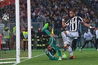 Gol di Medhi Benatia Juventus goal celebration Gianluigi Donnarumma Milan<br /> Roma 09-05-2018  Stadio Olimpico  <br /> Football Calcio Finale Coppa Italia / Italy's Cup Final 2017/2018 <br /> Juventus - Milan<br /> Foto Cesare Purini / Insidefoto