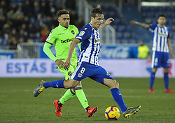 February 11, 2019 - Vitoria, Alava, Spain - Player of Alaves in action during La Liga Spanish championship, , football match between Alaves and Levante, February 11th, in Mendizorroza Stadium in Vitoria, Spain. (Credit Image: © AFP7 via ZUMA Wire)