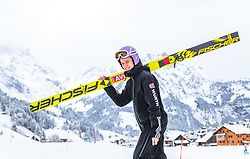 17.12.2017, Gross Titlis Schanze, Engelberg, SUI, FIS Weltcup Ski Sprung, Engelberg, im Bild Andreas Wellinger (GER) // Andreas Wellinger of Germany during Mens FIS Skijumping World Cup at the Gross Titlis Schanze in Engelberg, Switzerland on 2017/12/17. EXPA Pictures © 2017, PhotoCredit: EXPA/JFK