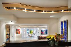 Art gallery in basement Family room TV room