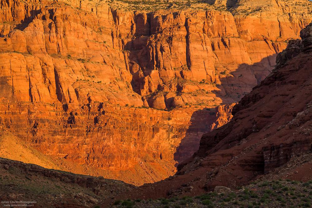 Sunrise on the Vermilion Cliffs near Lee's Ferry in nothern Arizona