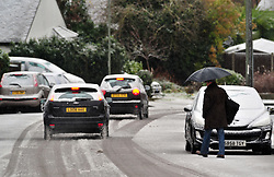 © Licensed to London News Pictures.10/12/2017.<br /> Orpington, UK.<br /> Morning snow in Kent today.<br /> Snow has reached parts of the South East as the cold weather continues.<br /> Photo credit: Grant Falvey/LNP