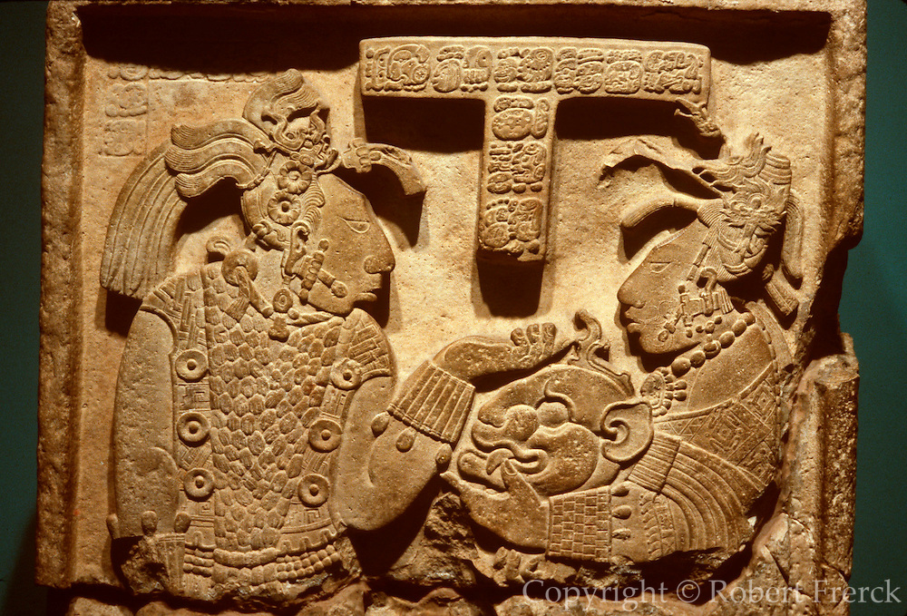 MEXICO, MEXICO CITY MUSEUM Mayan; King of Yaxchilan relief