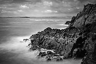 A view of Flat Holm, seen from the rocks at Brean Down Fort.