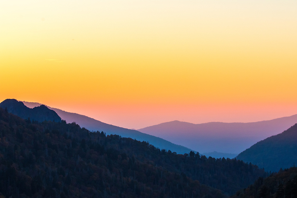 October 12, 2017: Sunset at Morton Overlook.