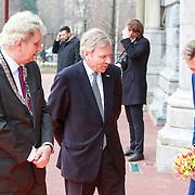 NLD/Amsterdam /20130413 - Heropening Rijksmuseum 2013 Eberhard van der Laan en Jaap de hoop Scheffer spreken de kinderen toe