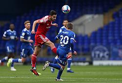 Seamus Conneely of Accrington Stanley heads the ball - Mandatory by-line: Arron Gent/JMP - 16/10/2020 - FOOTBALL - Portman Road - Ipswich, England - Ipswich Town v Accrington Stanley - Sky Bet League One