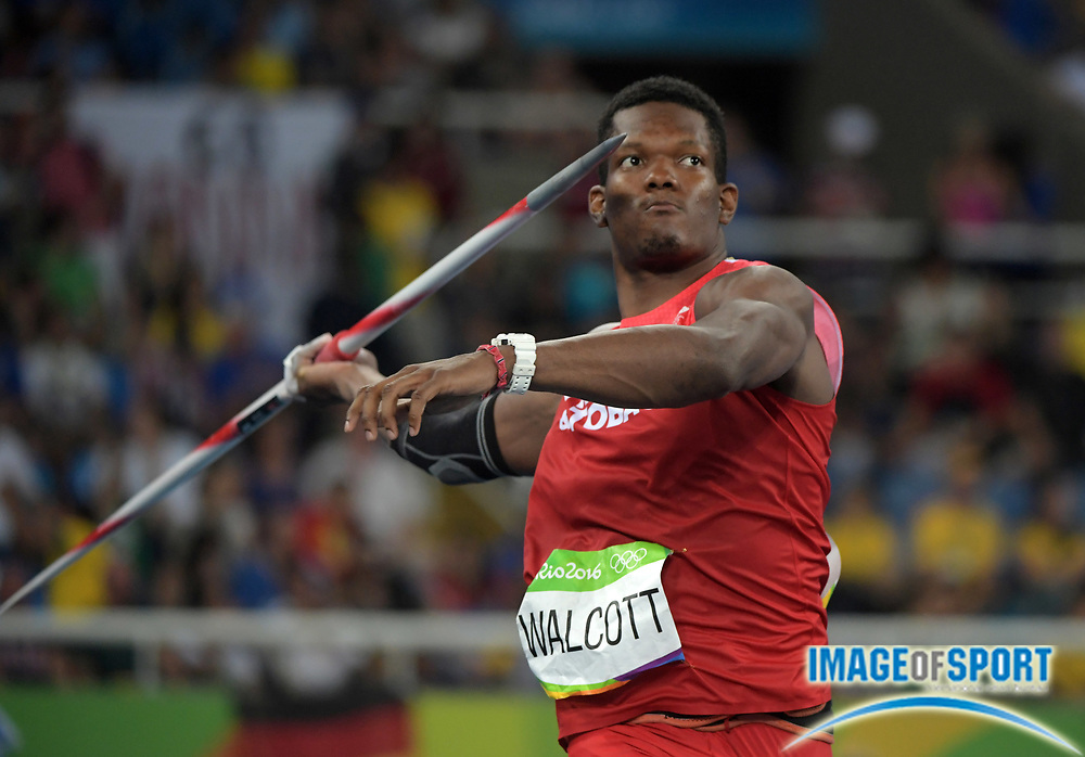 Aug 20, 2016; Rio de Janeiro, Brazil; Keshorn Walcott (TTO) places third in the javelin at 280-1 (85.38m) during the 2016 Rio Olympics at Estadio Olimpico Joao Havelange. <br /> <br /> *