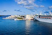 Cruise ship docked in Hamilton harbor, Bermuda