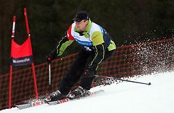 "Dimitrij Piciga of Acroni Jesenice during the first run of ""Ski Legends HIT Challenge by Jure Kosir"" event in Kranjska Gora, Slovenia, on February 2, 2008. (Photo by Vid Ponikvar / Sportal Images)."