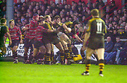 Gloucester, Gloucestershire, UK., 04.01.2003, line out action from the,  Zurich Premiership Rugby match, Gloucester vs London Wasps,  Kingsholm Stadium,  [Mandatory Credit: Peter Spurrier/Intersport Images],