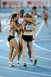 01-08-2010 ATLETIEK: EUROPEAN ATHLETICS CHAMPIONSHIPS: BARCELONA<br /> Germany (GER) - Silver Medal 4x400m Relay Women Final / HOFFMANN, Claudia GER and Esther Cremer<br /> ©2010-WWW.FOTOHOOGENDOORN.NL