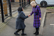 The Duchess arrives and is met by the Mayor of Lambeth - The Duchess of Cornwall, President, Ebony Horse Club, visits the charity's Brixton riding centre. The centre is celebrating its 21st birthday and its 6th year on this site. London 16 Feb 2017 .