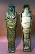 Mummy and mummy case of a princess. 21st Dynasty. Thebes. British Museum, London