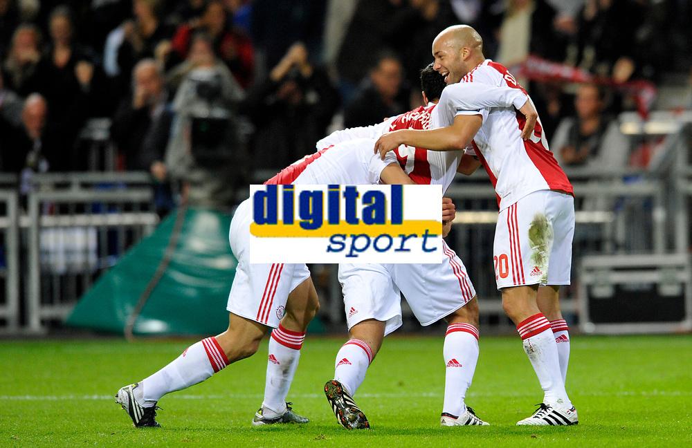 FOOTBALL - CHAMPIONS LEAGUE 2010/2011 - GROUP STAGE - GROUP G - AJAX AMSTERDAM v AJ AUXERRE - 19/10/2010 - PHOTO GUY JEFFROY / DPPI - JOY AJAX