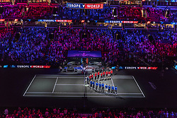 September 21, 2018 - Chicago, Illinois, U.S - Opening ceremonies before the first match on Day One of the Laver Cup at the United Center in Chicago, Illinois. (Credit Image: © Shelley Lipton/ZUMA Wire)
