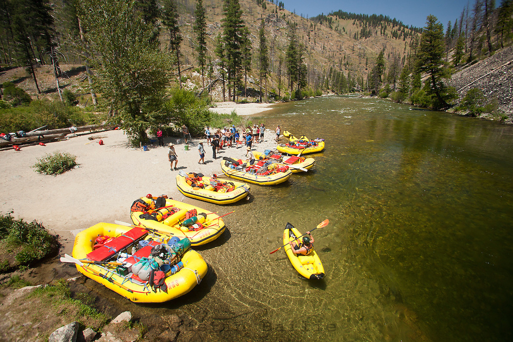 Rafting the Middle Fork of the Salmon River, ID.