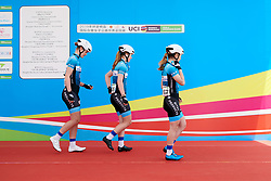 Hitec Products Birk Sport sign on at Tour of Chongming Island 2019 - Stage 1, a 102.7 km road race on Chongming Island, China on May 9, 2019. Photo by Sean Robinson/velofocus.com