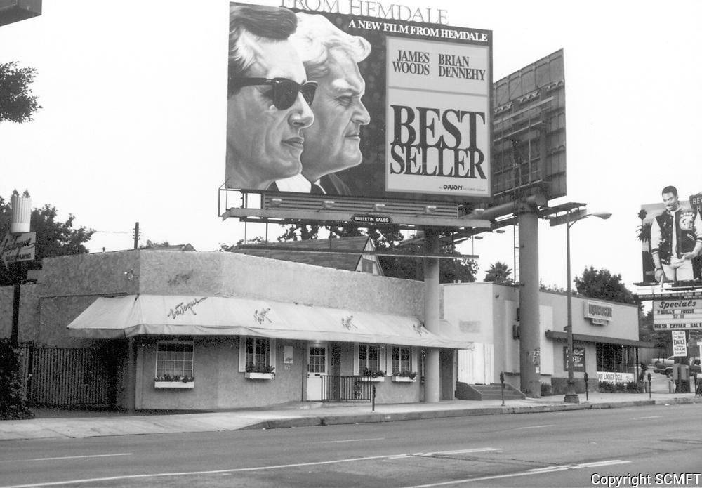 1988 La Toque Restaurant on Sunset Blvd. in West Hollywood