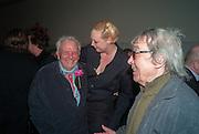 GWENDOLINE CHRISTIE; DAVID BAILEY; BILL WYMAN, Opening of Bailey's Stardust - Exhibition - National Portrait Gallery London. 3 February 2014