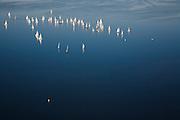 Nederland, Zuid-Holland, Roelofsarendsveen, 11-02-2008; Braassemermeer, zeilboten op een zonnige en winterse zondagmiddag; blauw water, wind, varen, Bra*s*e*mermeer, zeilboot, plas, zeilen, zeil, recreatie.  .luchtfoto (toeslag); aerial photo (additional fee required); .foto Siebe Swart / photo Siebe Swart