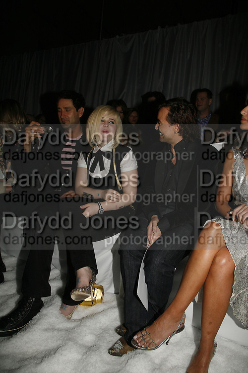 Kelly Osbourne, Julian Macdonald DENIS SIMACHEV SHOWCASES AUTUMN/WINTER 06 MENSWEAR & WOMENSWEAR COLLECTIONS<br />AT CHELSEA FOOTBALL CLUB. Supported by Vogue Russia<br />11 April 2006. ONE TIME USE ONLY - DO NOT ARCHIVE  © Copyright Photograph by Dafydd Jones 66 Stockwell Park Rd. London SW9 0DA Tel 020 7733 0108 www.dafjones.com