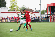 Nicolò Pavan, Padania and Tansel Taner Osman, Northern Cyprus. Northern Cyprus 3 v Padania 2 during the Conifa Paddy Power World Football Cup semi finals on the 7th June 2018 at Carshalton Athletic Football Club in the United Kingdom. The CONIFA World Football Cup is an international football tournament organised by CONIFA, an umbrella association for states, minorities, stateless peoples and regions unaffiliated with FIFA.