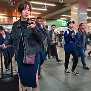 Nai Nai, a 23-year-old live-streamer in Shanghai, China, arrives in Wuhan City to meet her friend, the famous live-streamer Jiang Bo. Nai Nai's fans are mostly Chinese men between 15 and 30 years old who post messages and virtual gifts, visible to everyone logged on to her chatroom. China's livestreaming industry reached 425 million subscribers in 2018 out of a current total internet user base of more than 829 million, according to government statistics cited in Chinese state media. Livestream hosting is an increasingly popular career choice, especially for young Chinese women like Nai Nai.