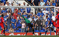 Photo: Ashley Pickering.<br /> Ipswich Town v Crystal Palace. Coca Cola Championship. 26/08/2007.<br /> Jonathan Walters of Ipswich (blue) scores the only goal of the match