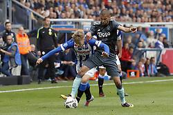 (L-R) Martin Odegaard of sc Heerenveen, Hakim Ziyech of Ajax during the Dutch Eredivisie match between sc Heerenveen and Ajax Amsterdam at Abe Lenstra Stadium on October 01, 2017 in Heerenveen, The Netherlands