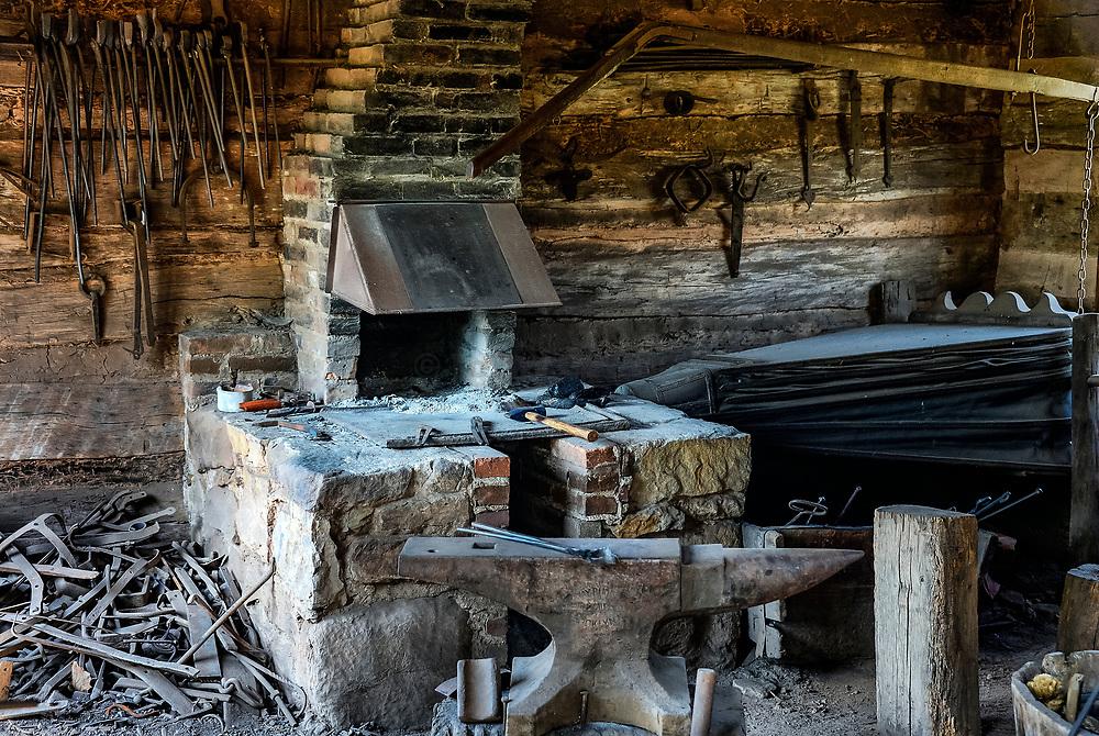Blacksmith shop, Danial Boone Homestead, Birdsboro, Pennsylvania, USA