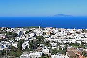 Capri island, Tyrrhenian Sea off the Sorrentine Peninsula, Gulf of Naples in the Campania region of Italy