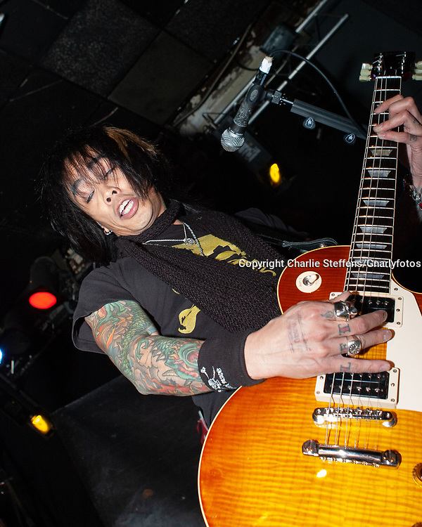 STEVIE D. of Buckcherry at the Whisky a Go Go in West Hollywood, California