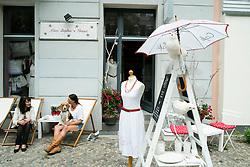 Fashion boutique shop in bohemian Prenzlauer Berg district of Berlin Germany