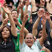 Mexican fans perform the mexican wave during the Mexico V Wales international football friendly match at MetLife Stadium, East Rutherford, New Jersey, 23rd May 2012. Photo Tim Clayton